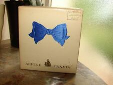 VTG Arpege Pure Perfume, Eau de LANVIN w/ Atomizer Sealed Gift Box 3-Piece Set