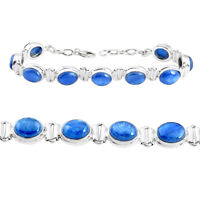 Details about  /Natural Oval Cut Himalayan Kyanite Gemstone 925 Sterling Silver Tennis Bracelet