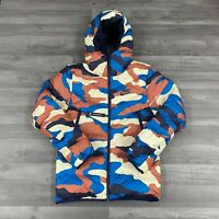 NIKE MEN'S DOWN FILL HOODED WINDRUNNER CAMO PUFFER JACKET SIZE SMALL BV4763-744