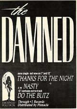"Scheck9P2 Advert7x5"" The Damned : Thanks for the night"