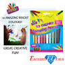 CHUNKY Colouring Pencils - 10 Pack, Range of Colours - Easy To Grip & Sharpener