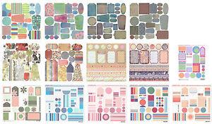 Basic Grey, Karen Foster, Sassafras Lass & Sei 12x12 Die Cut Cardstock Tags