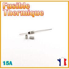 Fusible thermique 133°C - 15A/250V AC & Bague de sertissage