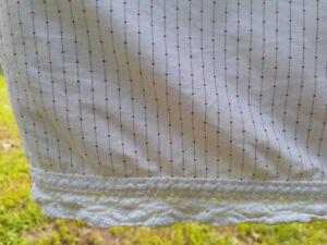 Ralph Lauren Cold Spring Queen Flat Sheet Crocheted Edge-100% Cotton