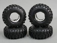 RC 1/10 Rubber TRUCK Tires SHOE SWAMPERS 1.9 ROCK CRAWLER Wheels 105mm W/ Foam