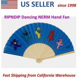 RIPNDIP Dancing NERM Hand Fan Brand New Collection Collectible Party MUST HAVE