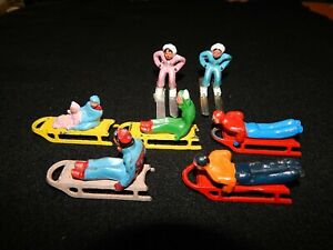 7-Vintage Barclay Sled's and Skiers
