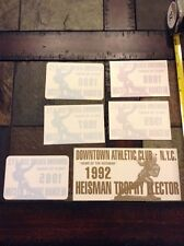 Heisman Trophy Elector lot of 6 football 1985-9 92 bumber stickers/seals unused
