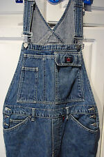 VINTAGE Calvin Klein Women's Overalls Sz M Denim Long Pants Original 100% Cotton
