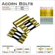Knife Mounting Hardware 6 Brass Acorn Bolts 2 Lanyard Tube Knife Making Supply