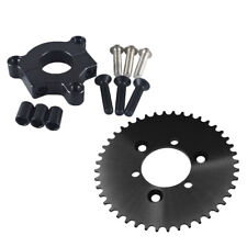 """Cnc Black 44T Sprocket With 1.5"""" Adapter Fits 60cc,66cc Motorized Bike 415 Chain"""