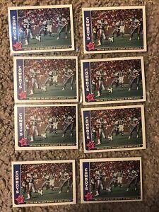 (8) 1985 Fleer #16 -- TONY DORSETT Card Lot -- COWBOYS HOF + Pitt HEISMAN Winner