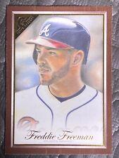 2019 Topps Gallery Wood Canvas #136 Freddie Freeman Atlanta Braves MLB Card