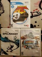 Lot of 3 Skylanders Giants, kung fu panda, epic mickey Games Nintendo WII