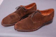 """JOHN LOBB PARIS men's """"Volga"""" brown suede derby shoes sz 7 E / US 8 D"""