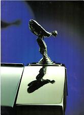 ROLLS-ROYCE 1986-87 UK MARKET FOLDOUT vendite opuscolo Silver Spirit CILINDRICI CORNICHE