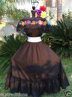 Mexican Dress Fiesta,5 De Mayo,Day of  the Dead 2 Piece. Vestido Fiesta Mexicana