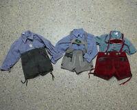 6 tlg. Jungen Kinder Trachten Konvolut in Größe 86 Hemden Hosen L032