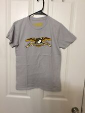 Anti Hero EAGLE Skateboard T Shirt Light Gray HEATHER SMALL