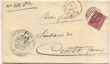 P4039    Pavia, STRADELLA numerale a sbarre per Cento (Fe)