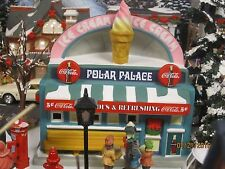 "TRAIN HOUSE VILLAGE "" The COCA-COLA POLAR PALACE ICE CREAM "" +DEPT 56/LEMAX info"
