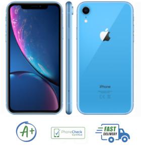 Apple iPhone XR 256GB Blue Unlocked A1984 Verizon AT&T Sprint T-Mobile B Grade