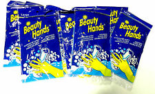 8  Pair Latex Lined Dishwashing Chemical Resistant Gloves - X-Large Flock Lined