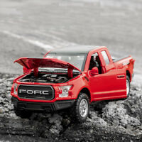 Ford Raptor F150 Pickup Toy Alloy Car Model 1:32 Sound Light Pull Back Offroad