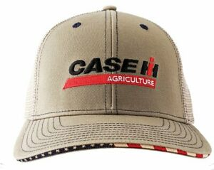 CASE IH *KHAKI & TAN MESH BACK* LOGO TWILL Hat Cap NEW CIH2648