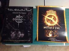 2 GLENN TIPTON JOHN ENTWISTLE PROMO Posters 24x18apx judas priest vintage!!...