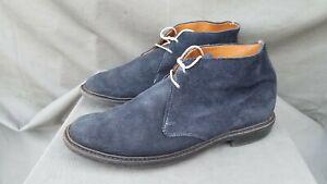ALLEN EDMONDS GOBI Blue Suede Leather Ankle Boots Sz-10.5 D
