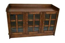 Crafters and Weavers Arts and Crafts Mission Oak Bookcase or Oak TV Stand