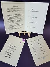 10 Wedding Party Sweepstake Betting cards - Place your Bets!
