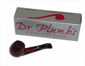 Dr Plumb Dinky Flat Bottom Briar Pipe - Sandblast Colour - 4512SandBlast