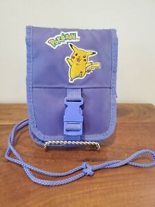 Vintage Pokemon Pikachu Nintendo Game Boy Travel Carrying Case Purple Bag