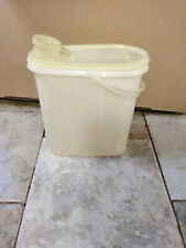 "Tupperware Off White Pitcher 587 8 x 7 x 3"" With Handle"