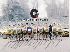 CYCLISME carte équipe cycliste RENAULT cycles GITANE 1980