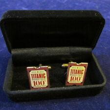2012 Titanic Memorial Cruise 100th Anniversary Voyage Souvenir Cufflinks MIB A5