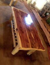 Beautiful Handmade Cedar Log frame Coffee table