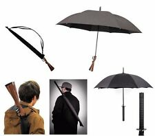 rifle umbrella gun gunbrella hunting brown stock novelty