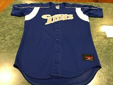 Vintage Rawlings Norfolk Tides #7 ROYAL Blue Minor League Baseball Jersey Sz 42