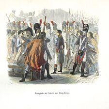 Antique French Print, Bonaparte - Napoleon History - by Raffet & Lavoignat, 1846