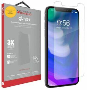 Apple iPhone X/XS/11 PRO Screen Protector ZAGG Invisible Shield Glass + Tough