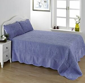 Lightweight Lilac Double Size Bedspread Set Comforter And Pillow Shams 239x264cm