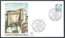 1988 ITALIA FDC FILGRANO CASTELLI BOBINA MELFI 500 LIRE NO TIMBRO ARRIVO - SV2