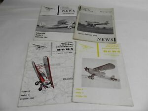 1960 1961 1964 1968 FOUR ISSUES OF ANTIQUE AIRPLANE ASSOCIATION NEWS MAGAZINE