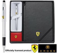 More details for official ferrari cross century ii rollerball pen faux leather journal gift set
