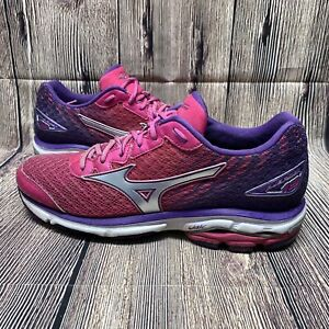 Mizuno Wave Rider 19 Road Running Shoes Size W9 Pink/Purple
