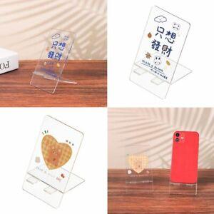 Desktop Stand Acrylic Creative Cute Transparent Phone Stand Holder Rabbit Bear