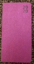 Slim Pink Sparkle Glitter 2020 Pocket Diary